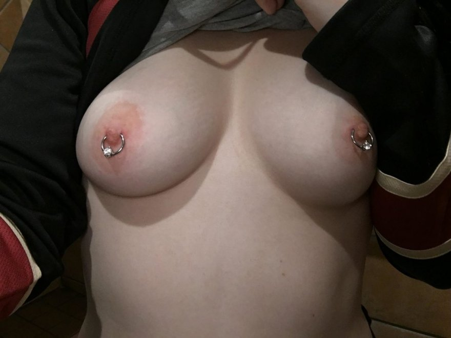 Nipple rings Porn Photo