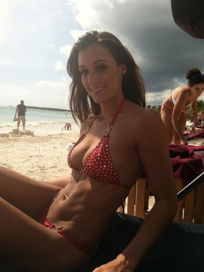 amateur photo She got the beach body in time
