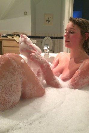 amateur photo Bubble bath
