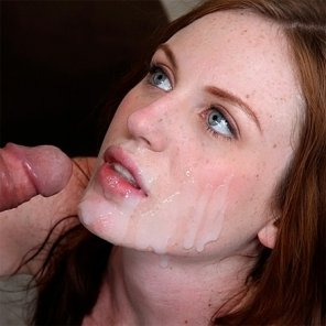 amateur photo Cum for a redhead