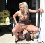 Outdoor pussy eating