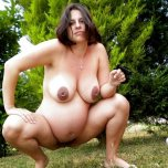 amateur photo She squats