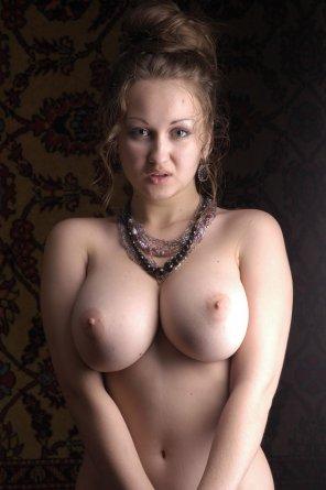 amateur photo Pretty face, great tits.