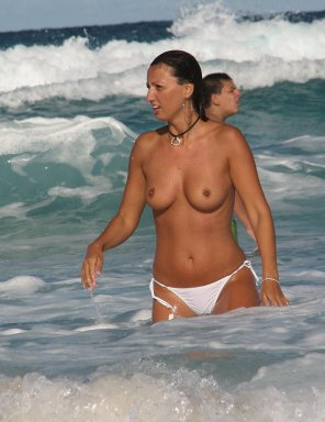 amateur photo White bikini bottoms