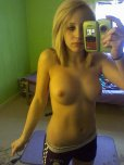 amateur photo Petite Blonde with Huge Tits