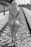 amateur photo Dem rails disappearing toward the horizon