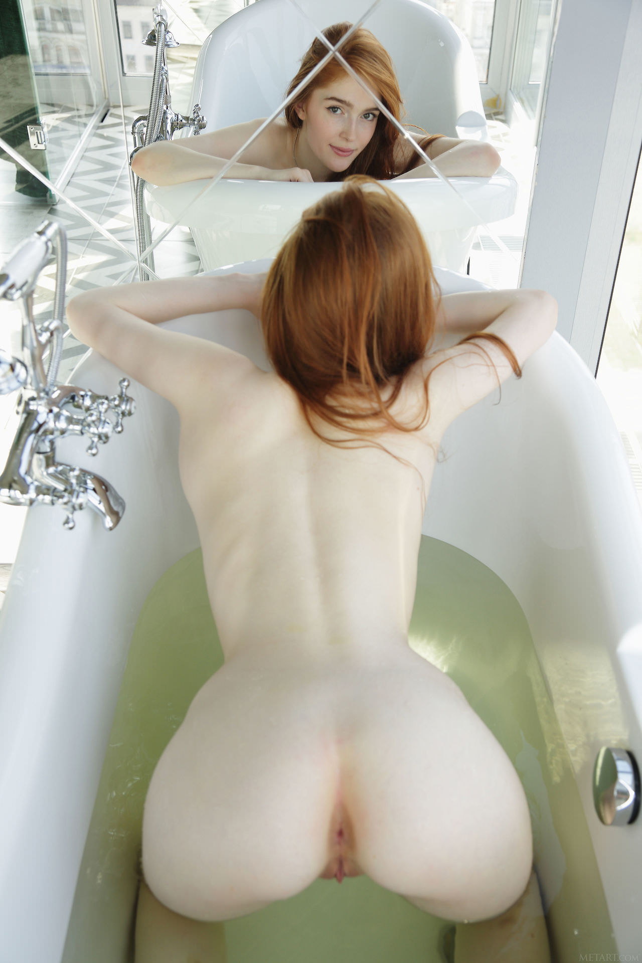 Pale babe playing with olive skin beauty - 2 part 8