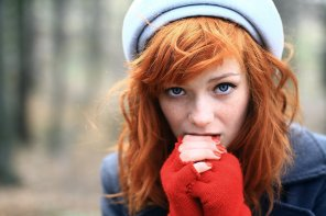 amateur photo Worried redhead