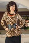 amateur photo Lisa Ann dressed in leopard print