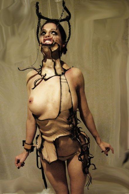 Weird Performance Art Porn Photo