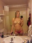 amateur photo hotel bathroom selfie