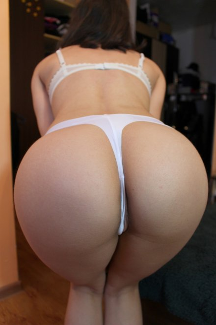 My white seamless thong! Porn Photo