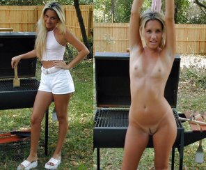 amateur photo Sexy Milf Grilling