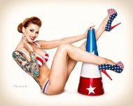 All American pin-up
