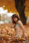 amateur photo Ariel Rebel and autumn leaves