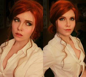 amateur photo Witcher 3 Triss cosplay