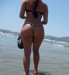 amateur photo Beach thong