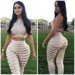 amateur photo Latina with voluptuous arse narrow waist & wide hips