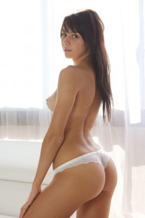 amateur photo White lace, great ass.