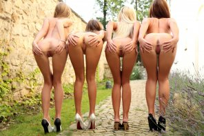 amateur photo Four of the Hottest Hotties Ever