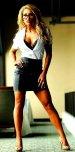 amateur photo Leather skirt