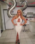amateur photo Birthday Clevage, in the tightest of dresses