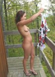amateur photo Naked on balcony