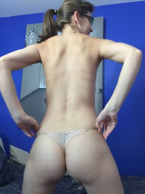 amateur photo Just a thong.