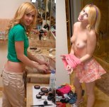 amateur photo Cute on, cuter off