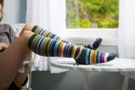 amateur photo The socks of many colors