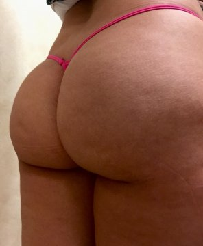 amateur photo [F] Thong of the day!!! Hot pink micro thong getting swallowed up,enjoy!!!
