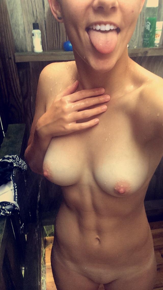 Shower nude girls outdoor