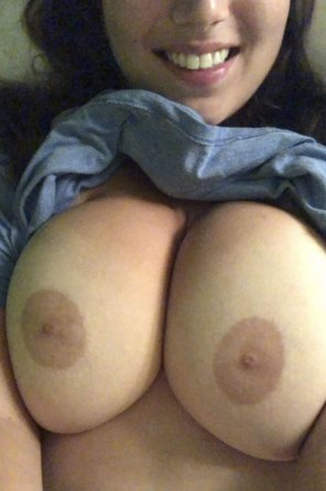 amateur photo Because someone requested tits and a full smile💝