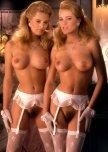 amateur photo Karin and Mirjam van Breeschootem - Playmates from 1989