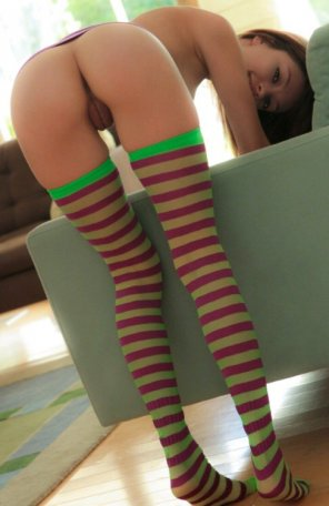 amateur photo Stripe me in
