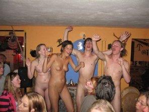 amateur photo At a party
