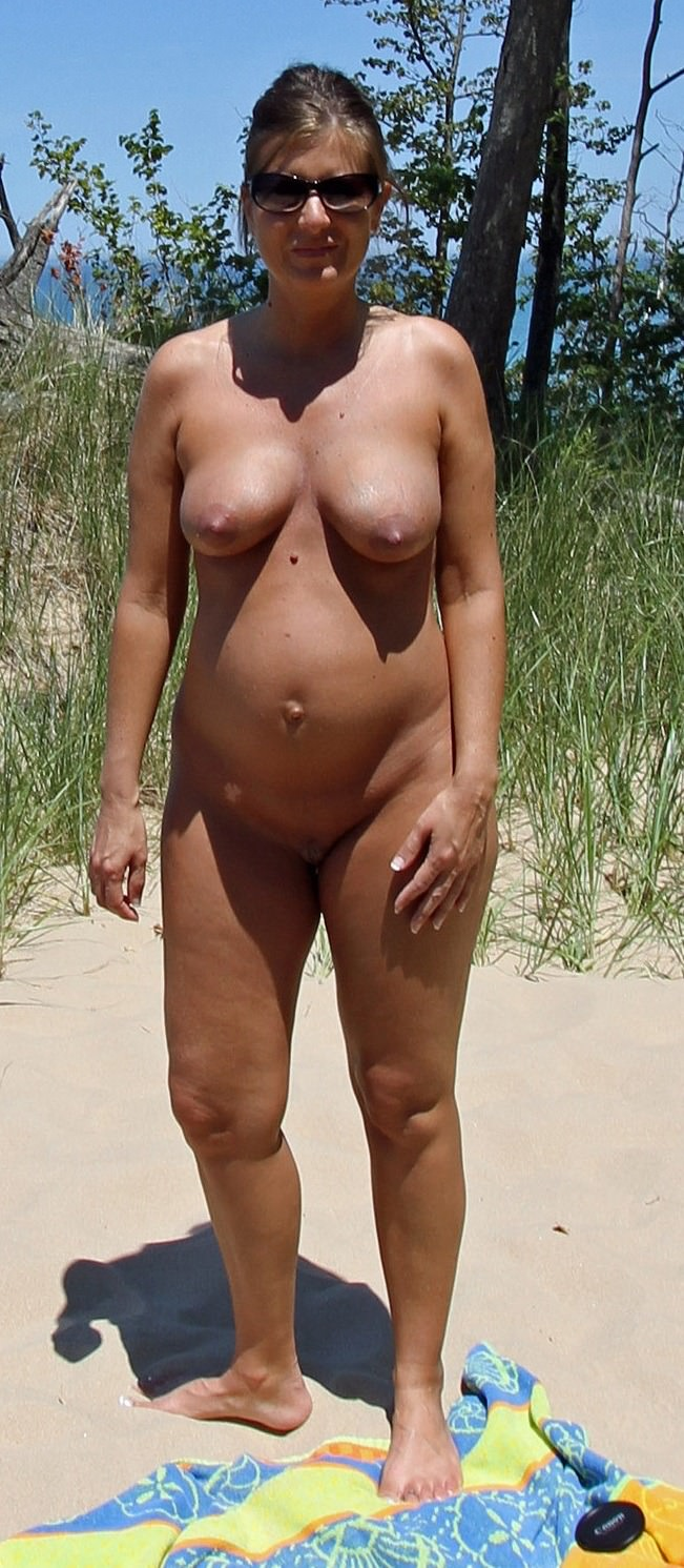 Pregnant wife nude beach
