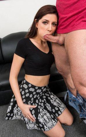 amateur photo Miranda Miller on her knees
