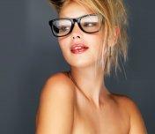 Beautiful blonde fashion model
