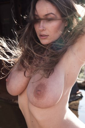 amateur photo Windswept Brunette