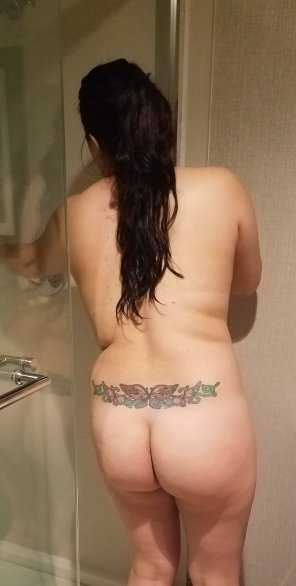 amateur photo Getting ready for a shower