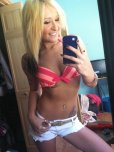 amateur photo Blonde in mirror.