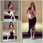 amateur photo Beautiful Redhead in a skirt