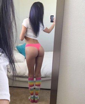 amateur photo Rainbow selfie