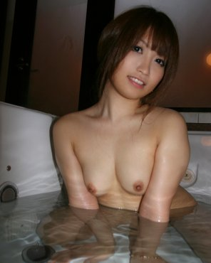 amateur photo Bathing Asian