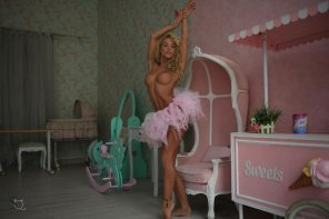 amateur photo Amazing Blonde in a Tutu