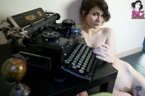 amateur photo She's my type...writer
