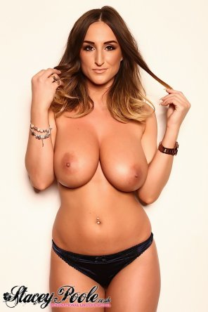 amateur photo Stacey Poole playing with her hair