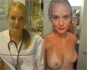 amateur photo Nurse on/off