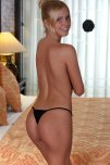 amateur photo Blonde sweetheart Tracy Gold showing off the backside